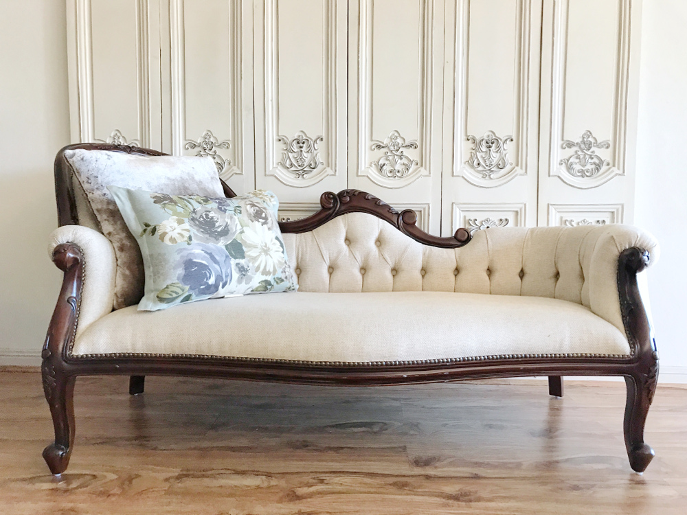 French Provincial Furniture I Victorian Chaise Lounge I