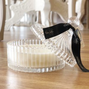 Clear Glass Carousel Scented Candle