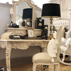 Tempeste Mirrored Dressing Table And Chair0