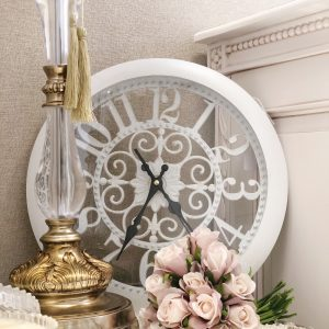 hampton white vintage wall clock