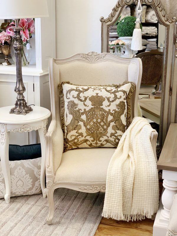 L'Angley French Antique Grey Provence Chair