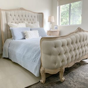 Etienne French Diamond Tufted Bed