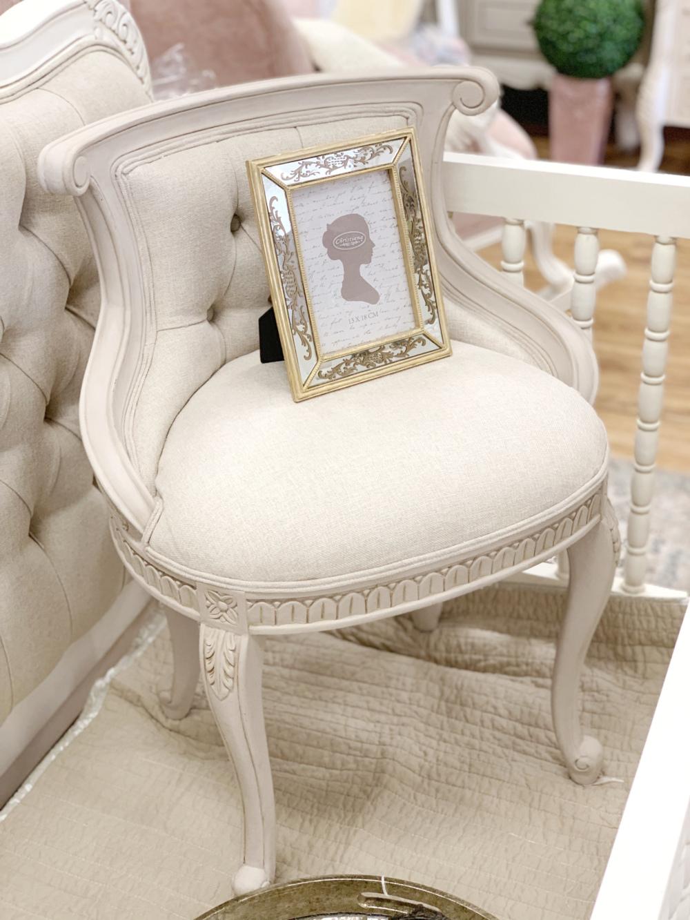 French Provincial Furniture I Madison Vanity Stool I Rococo Decor