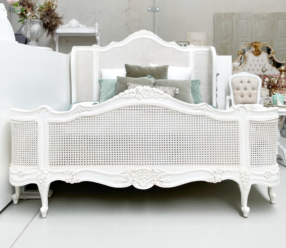 Capucine Wing Back Rattan Bed